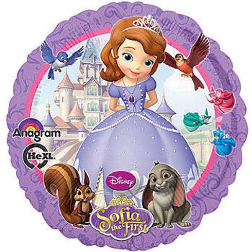 Balão Foil Redondo Princesa Sofia