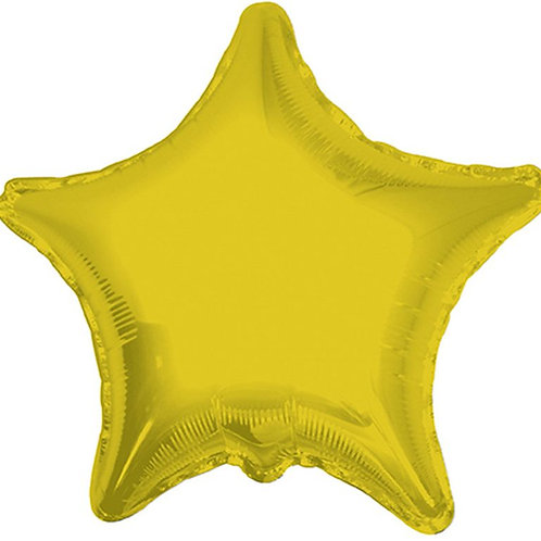 Balão Foil Estrela Dourado