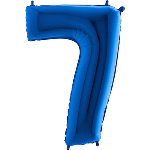 Balão Nº7 Azul Escuro