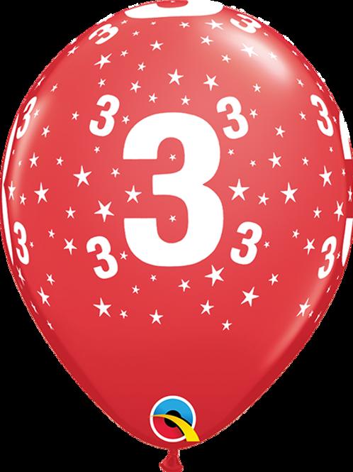Balão Látex Nº 3 Bordô