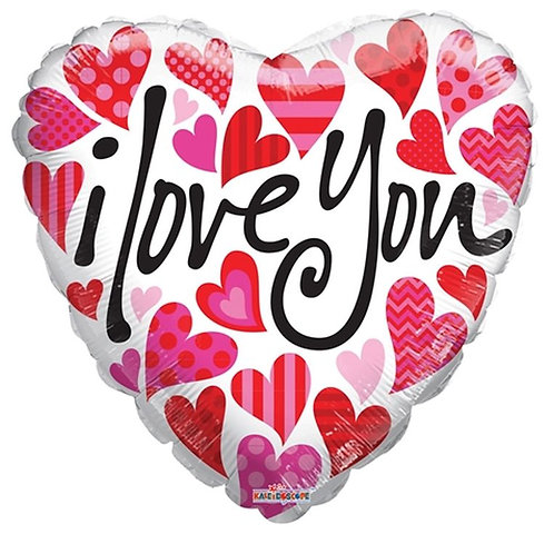 Balão Foil Coração I Love You