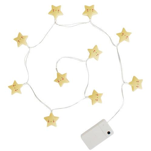 Grinalda Mini Luzes Estrelas