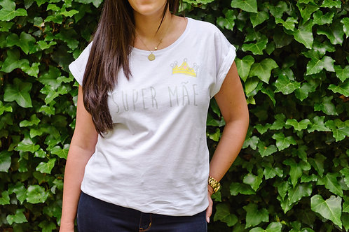 """T-shirt """"Super-Mãe"""" L"""