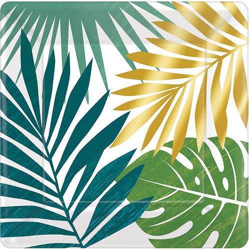 8 Pratos Quadrados Tropical