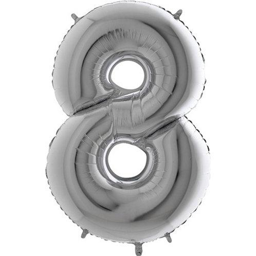 Balão Nº8 Prateado
