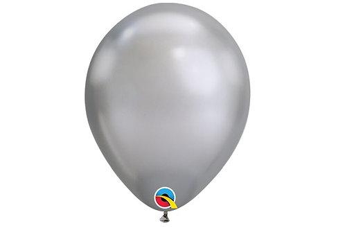 Balão Látex Chrome Prata