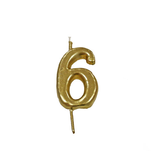 Vela Artesanal N.º6 Dourado