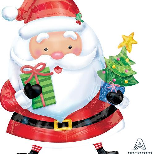 Balão de Foil Pai Natal com Figuras