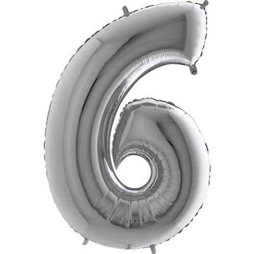 Balão Nº6 Prateado