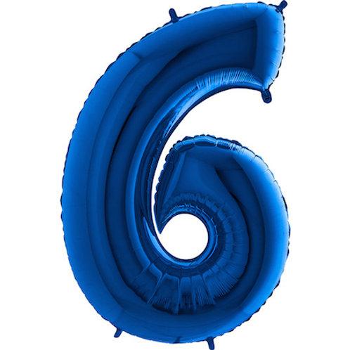 Balão Nº6 Azul Escuro