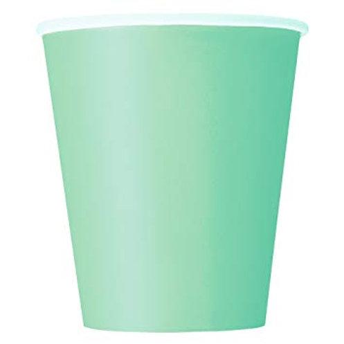 14 Copos Verde Água