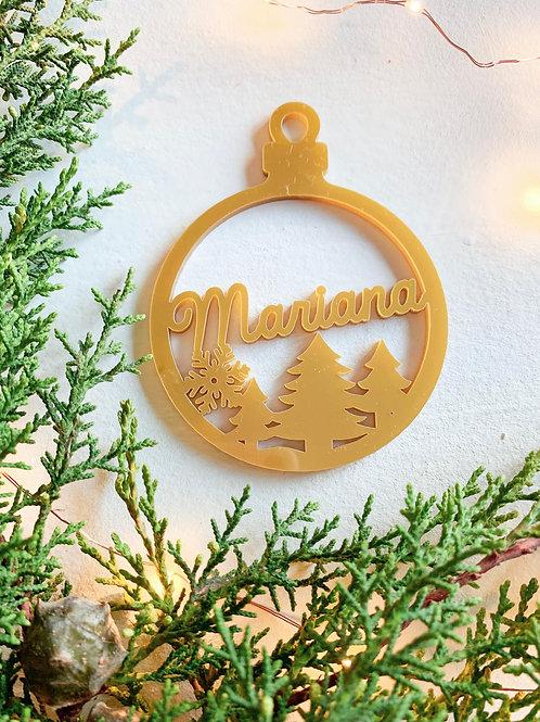 Bola de Natal Nacarado Figura