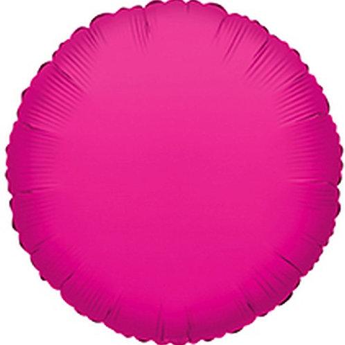 Balão Foil Redondo Fúscia