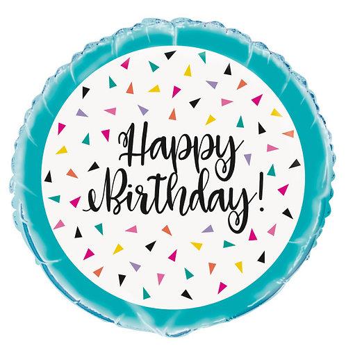 "Balão Foil ""Happy Birthday"""