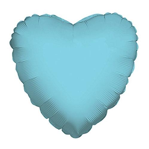 Balão Foil Coração Azul Claro