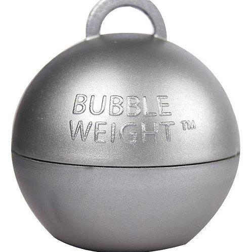 Peso Bubble para Balões Prateado