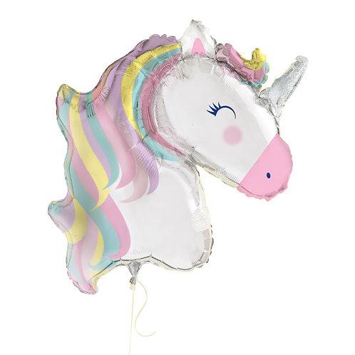 Balão Foil Unicórnio Tons Pastel