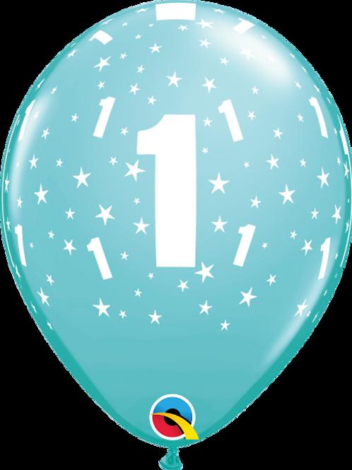 Balão Látex Nº1 Azul Claro