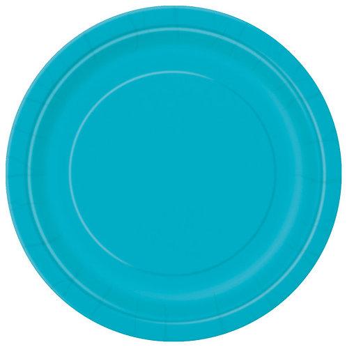 8 Pratos Azul Turquesa