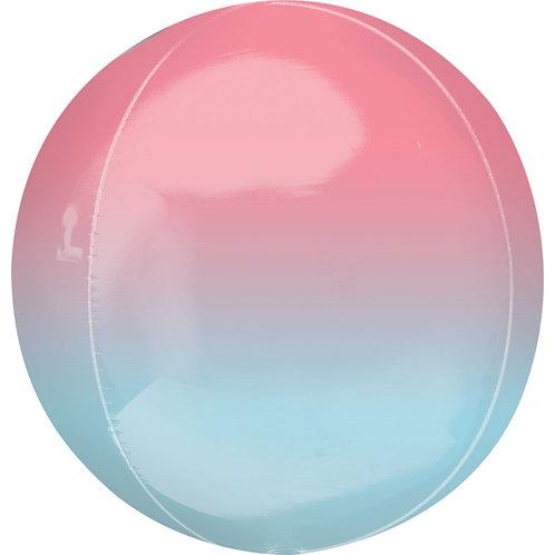 Balão Orbz Ombre Vermelho e Azul