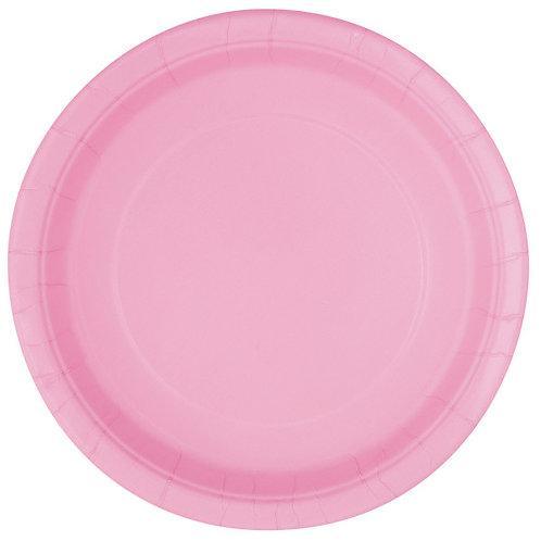 20 Pratos Rosa Claro
