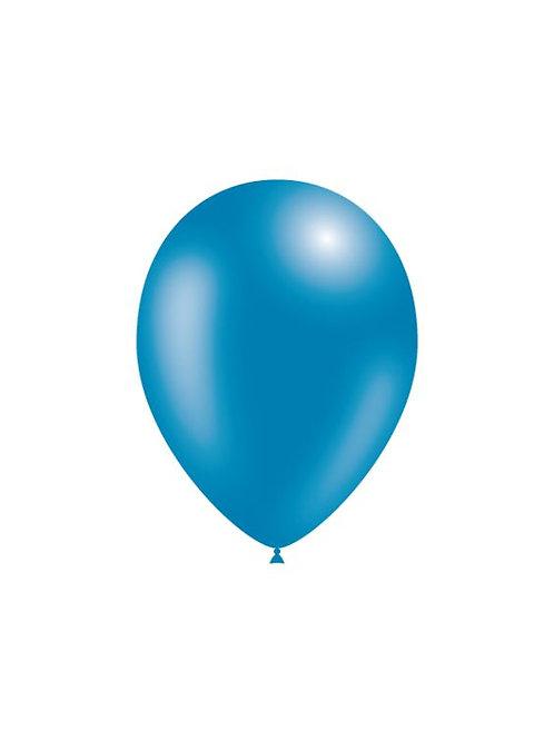 Balão Látex Metalizado Azul Escuro
