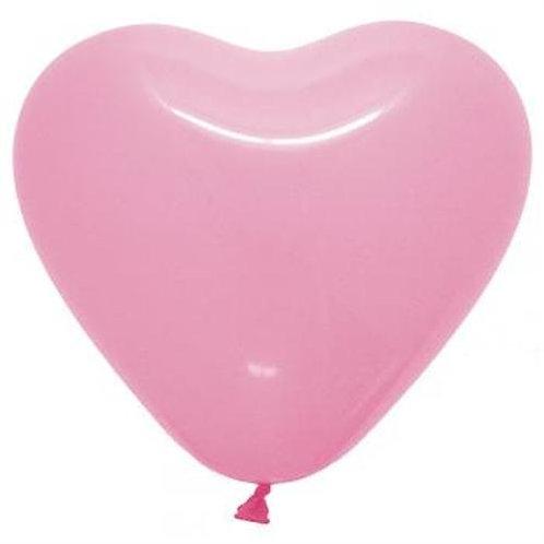 Balão Látex Coração Rosa