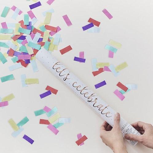 Canhão de confetti grande Arco-Íris