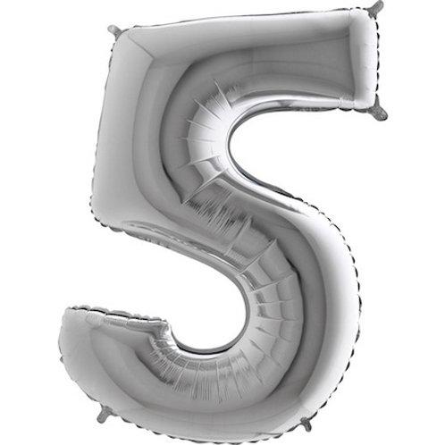 Balão Nº5 Prateado