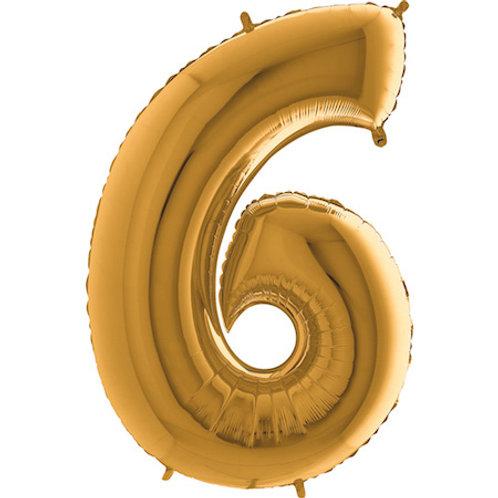 Balão Nº6 Dourado