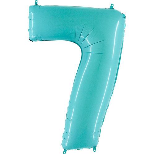 Balão Nº7 Azul Claro