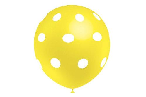 Balão Látex Amarelo com Pinta