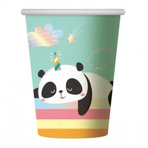 Copos Panda Unicórnio