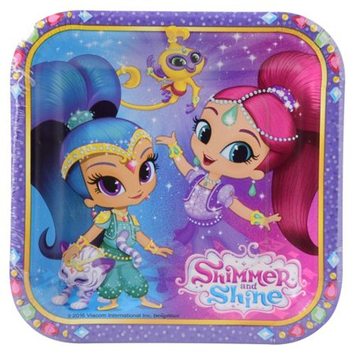 8 Pratos Shimmer e Shine