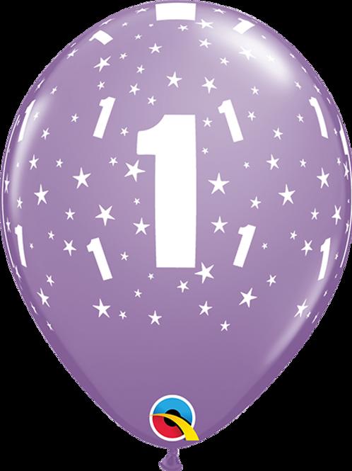 Balão Látex Nº1 Lilás