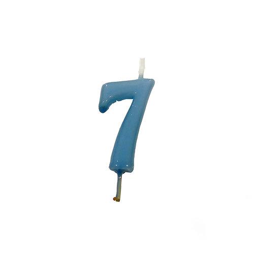 Vela Artesanal N.º7 Azul