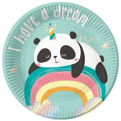 Pratos Panda Unicórnio