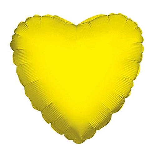 Balão Foil Coração Amarelo