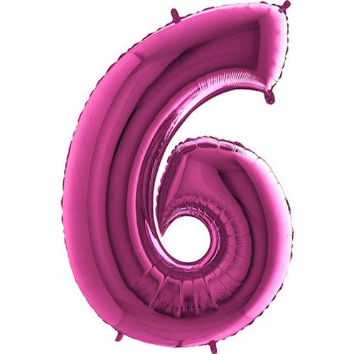 Balão Nº6 Rosa Escuro