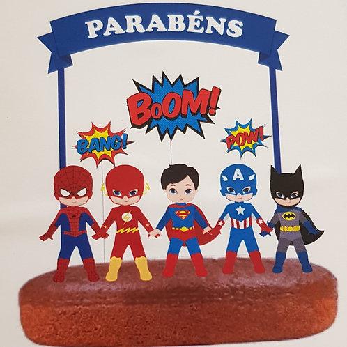 Topo Bolo Super Heróis