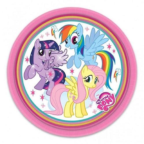 8 Pratos My Little Ponny