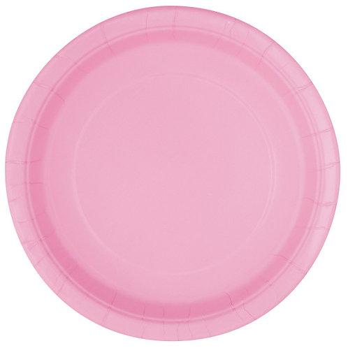 8 Pratos Rosa Claro