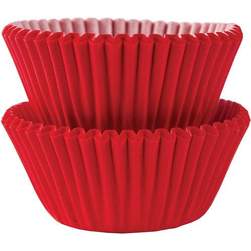 100 Mini Forminhas Brigadeiros Vermelho