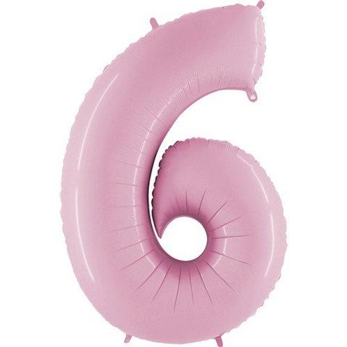 Balão Nº6 Rosa Claro