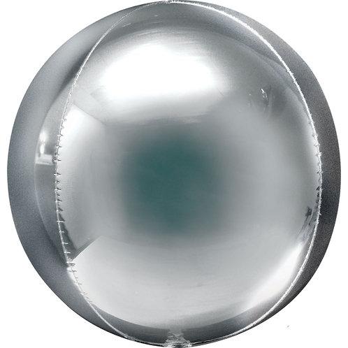 Balão Orbz Prateado