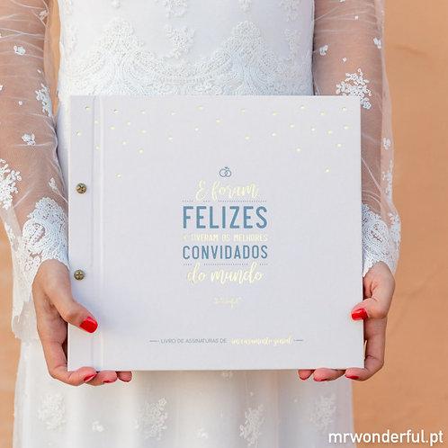 Livro de assinaturas de um casamento genial