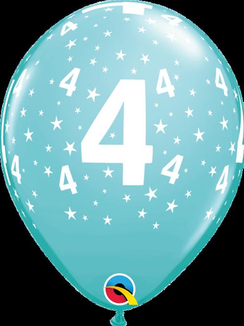 Balão Látex Nº 4 Azul Claro