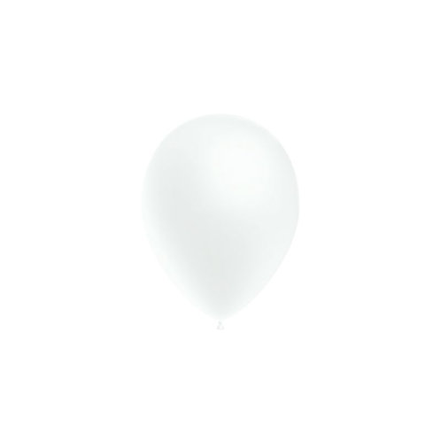 Balão Látex Metalizado Branco