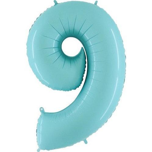 Balão Nº9 Azul Claro