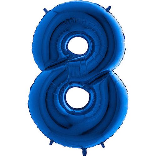 Balão Nº8 Azul Escuro